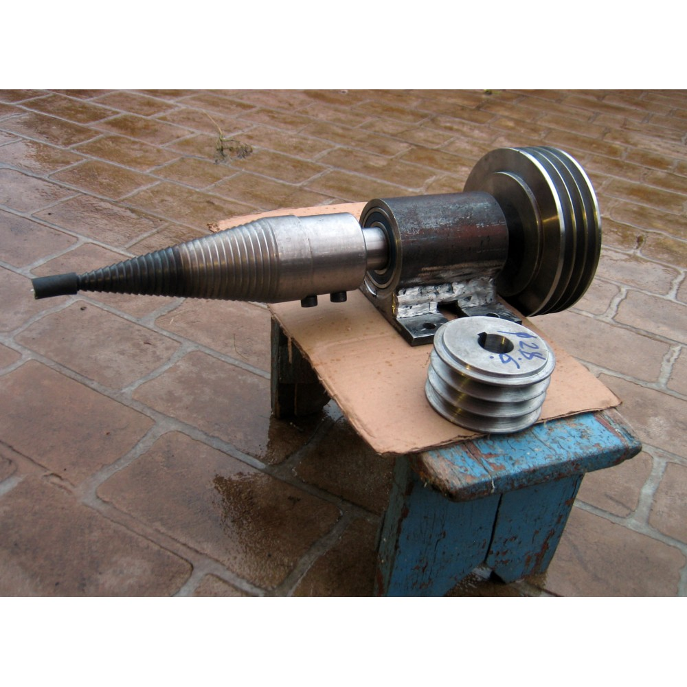 System Of Shaft Pulley 3 Quot Screw Type Log Wood Splitter