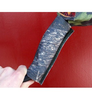 Dust rain cover on a foam grip for metal detectors