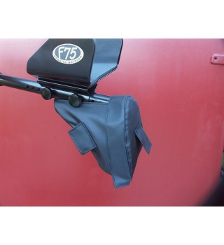 Dust rain covers for Fisher F75 / F75 special edition / black (2pcs)